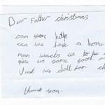 Szívszorító levelet írt egy brit kislány a Mikulásnak