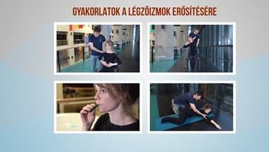 Oktatófilmen mutatja be a Semmelweis Egyetem, hogyan edzhetjük a légzőizmainkat otthon