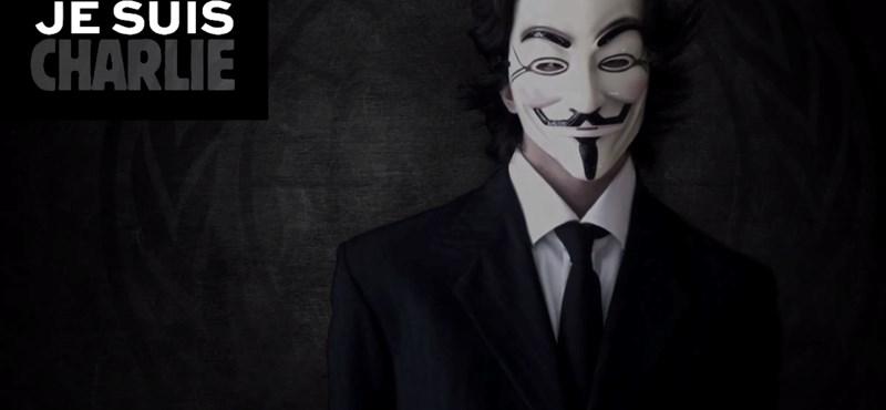 A Charlie Hebdo-hadművelet: háborút hirdetett az Anonymous - videó
