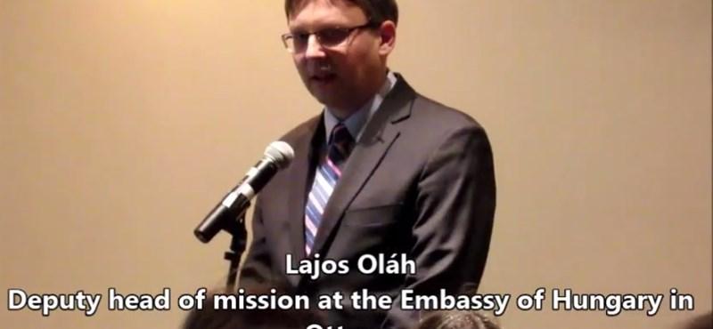 Most Kanadában zavart meg egy beszélgetést a kormány diplomatája – videó