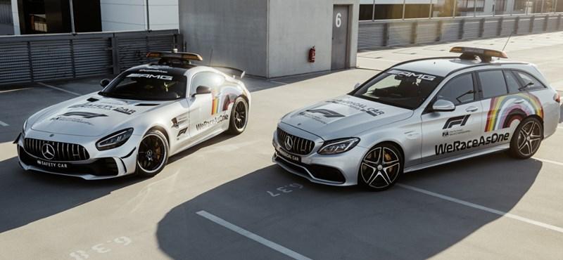 Megérkeztek a szivárványos Mercedes-AMG biztonsági autók a Hungaroringre