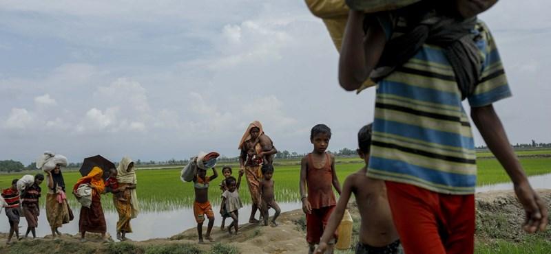 Mianmar – katonai támaszpontok az elűzöttek otthonai helyén