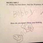 Zseniális választ adott a 6 éves diák a matektanár kérdésére