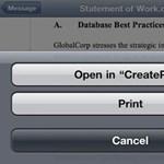 Adobe CreatePDF: PDF fájlok készítése iOS alatt