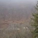 Videó a mai aggteleki hóesésről