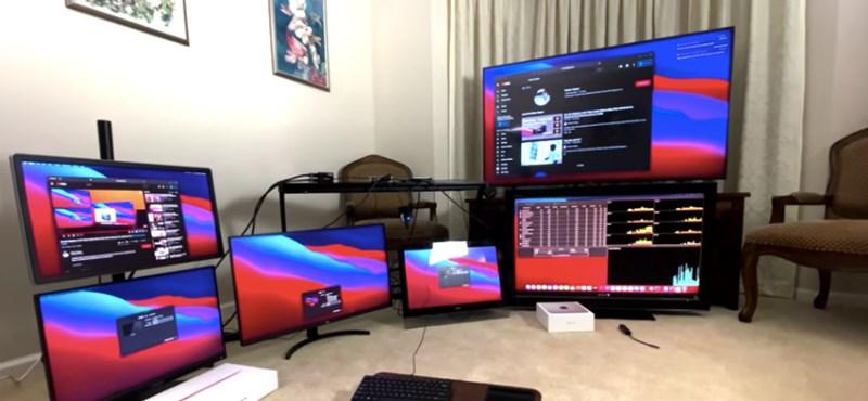 Ezt nézze meg: hat képernyőt kezel egyetlen M1-es Mac