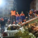 Összeomlott egy hétemeletes ház Isztambulban
