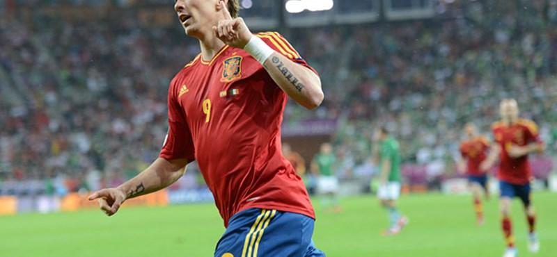 Egy emberként szorít Torres góljáért Spanyolország