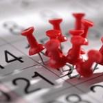 Oktatási naptár: fontos határidők járnak le ezen a héten