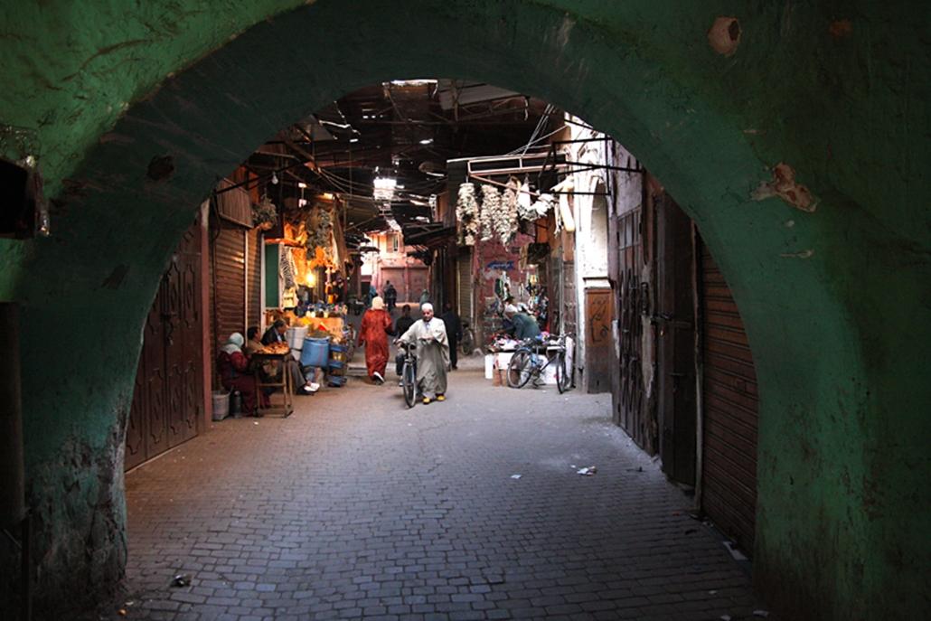 Marrakeshi bazár.