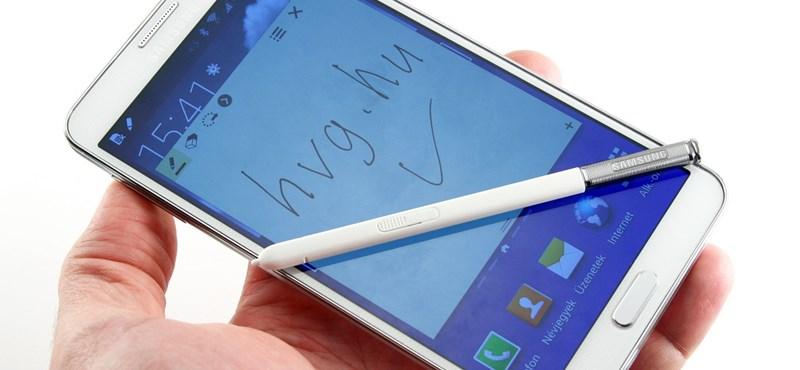 Csillagos ötös alá: Samsung Galaxy Note 3 teszt