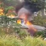 Lakóházra zuhant egy repülő New Jersey-ben – videó
