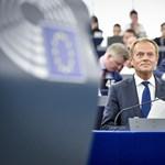 """Tusk: """"Aki a jogállamiság ellen van, Európa ellen van"""""""