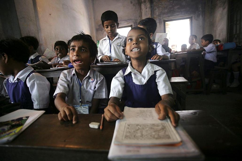 A hét képei nagyítás india oktatás diákok