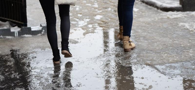 Figyelmeztetést adtak ki: több megyében is ónos esőre vált a havazás