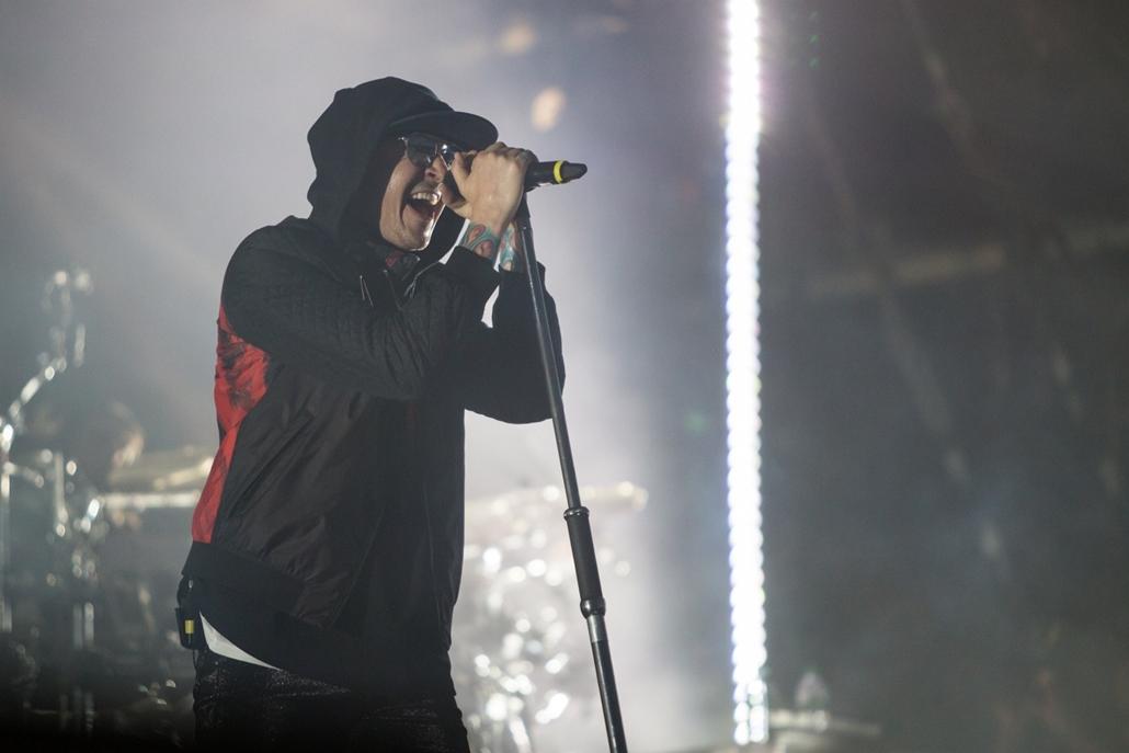 e_! - hvg év képei 2017 nagyítás - csm.17.06.27. - Sopron: Chester Bennington, a Linkin Park énekese a 2017-es Volt fesztiválon Sopronban június 27-én.