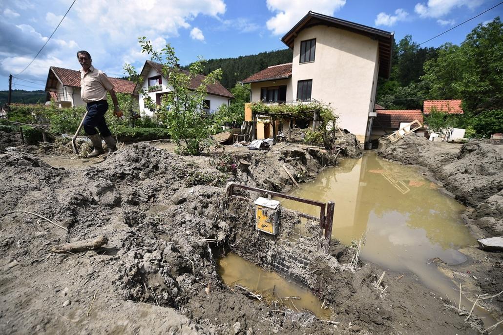 afp.14.05.20. - Krupanj, Bosznia-Hercegovina - árvíz
