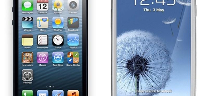 Az iPhone 5 már beelőzte a Galaxy S III-mat a weben