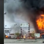A kikötőben égett porig több hajó is a Fertő tavon – videó