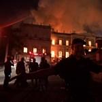 Tűzvész tombolt a brazil Nemzeti Múzeumban