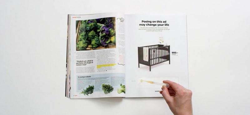 Jól olvassa: az IKEA legújabb újsághirdetése egy valódi, működő terhességi teszt