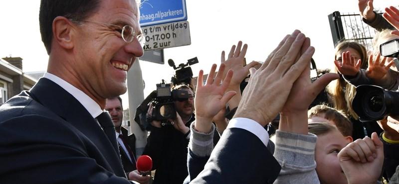 Magabiztosan győztek a mérsékeltek a holland választáson