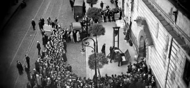 Fotó az utolsó nyilvános guillotine-os kivégzésről