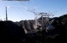 Itt a videó, amin látni, ahogy összeomlik a 900 tonnás rádióteleszkóp
