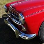Columbo is elismerően csettintene ennek az eladó régi vörös Peugeot kabriónak a láttán