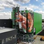 Most hatalmas mókust festett a Bud Spencer-graffiti alkotója