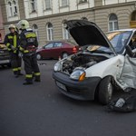 Egy sérült Kaposváron a balesetben