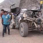 Hatalmasat bukott, és kiesett a Dakar-esélyes – videó