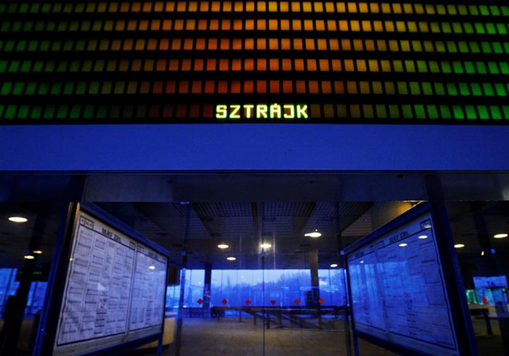 Déli pályaudvar. 2008. február.