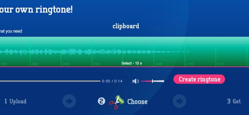 Weboldalak iPhone csengőhangok készítéséhez