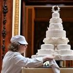 200 ezer forintért kelt el Vilmos és Katalin esküvői tortájának egy darabja