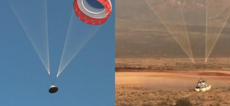 Videó: Nem nyílt ki az egyik ejtőernyő a Boeing űrhajójának tesztrepülésén