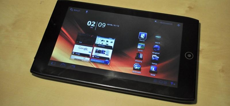 Kipróbáltuk: Acer Iconia Tab A100