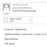Csalókra figyelmeztet az OTP: vírusos üzeneteket küldenek a nevében