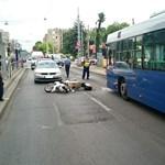 Elütöttek egy motorost Zuglóban, dugó lehet az Egressynél – fotó