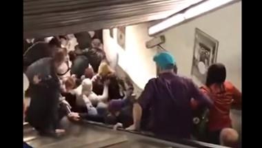 Rémületes mozgólépcső-balesetben sérültek meg focidrukkerek