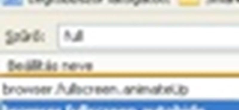 A teljes képernyős böngészés testreszabása Firefox 3-ban
