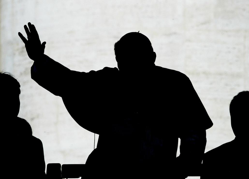 afp.03.04.16. - Vatikán: általános audiencia a Szent Péter téren- ,II. János Pál pápa