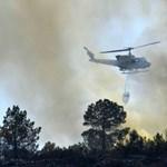 Spanyolországban is erdőtűz tombol