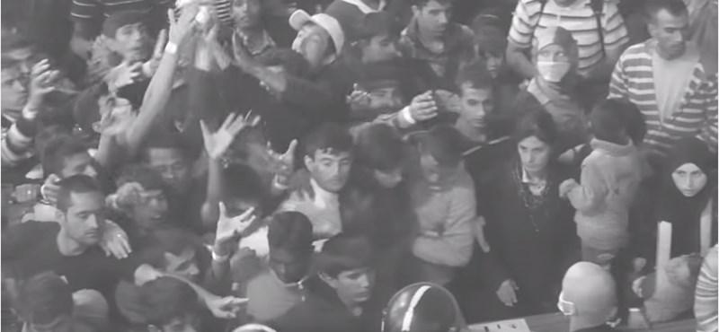 Döbbenetes videó került ki a röszkei táborból