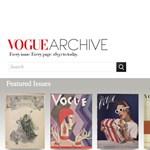 A Vogue számai felkerültek a netre 1892-től máig