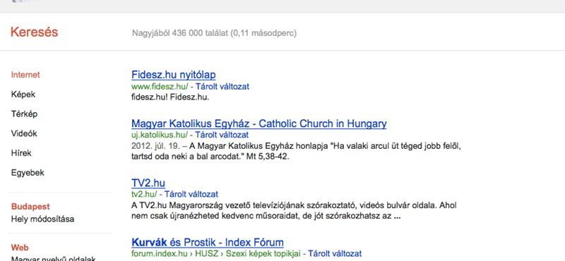 Meghökkentő kereséssel juthatunk a Fidesz és a Katolikus Egyház honlapjára
