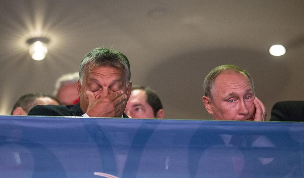e_! - hvg év képei 2017 nagyítás - tg.17.08.28. - Orbán Viktor és Vladimir Putyin a Judo Világbajnokság megnyitóján július 28-án.