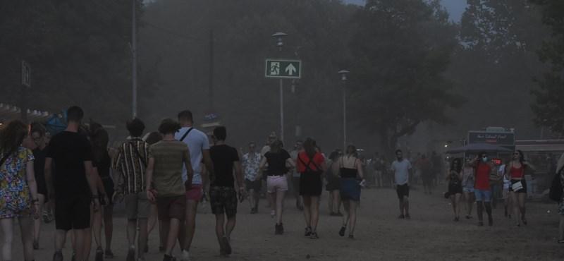 Budapestet is elérte a vihar, szakad az eső a Szigeten - fotó
