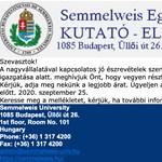 Vigyázat, csalók élnek vissza a Semmelweis Egyetem nevével