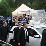 A hvg.hu videója Ferenc pápa érkezéséről